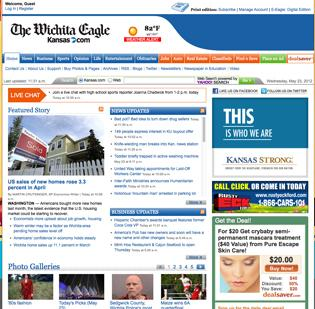 The Wichita Eagle will be charging for online access next month. The first 15 pages on the main website, Kansas.com, will be free, but even existing print subscribers must pay after that.
