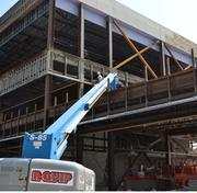 Work continues to progress on the facility, which is expected to be completed by December.