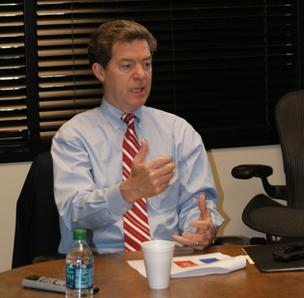 Kansas Gov. Sam Brownback at the Wichita Business Journal
