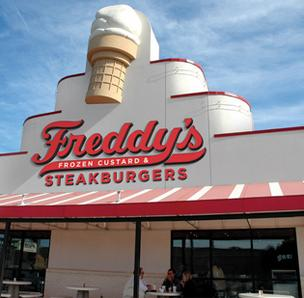 "According to a report from Business Insider, Wichita-based Freddy's Frozen Custard & Steakburgers is one of eight burger joints ""poised to conquer America."""