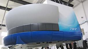 Boeing's Shanghai facility includes a 787 Full Flight Simulator.