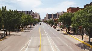 Douglas Avenue in downtown Wichita
