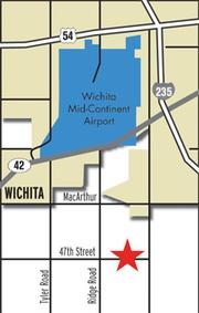 A Cessna 208 crashed Tuesday morning just south of Wichita Mid-Continent Airport.