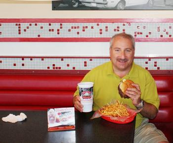 Scott Redler, shown here at Freddy's Frozen Custard & Steakburgers, says his company is selling its Timberline Steakhouse concept in order to focus on Freddy's.