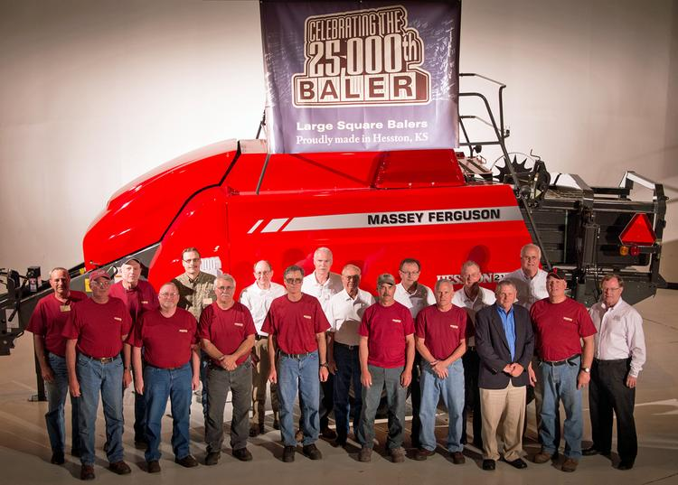 AGCO on Thursday celebrated the building of its 25,000th large square baler in Hesston.