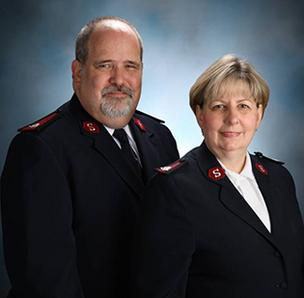 Maj. Glen Caddy and his wife, Maj. Major Carole Caddy.
