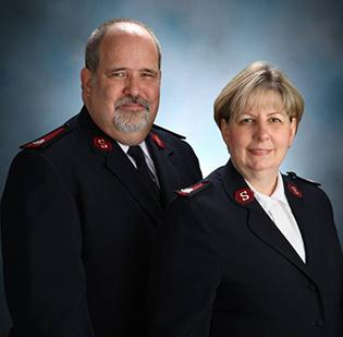 Maj. Glen Caddy and his wife, Maj. Major Carole Caddy.