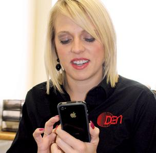 Lindsay Young, marketing manager at DEN Management, chooses to use an iPhone for business. Find out how she and other local 'power users' chose their phones in a WBJ BizTalk slideshow.