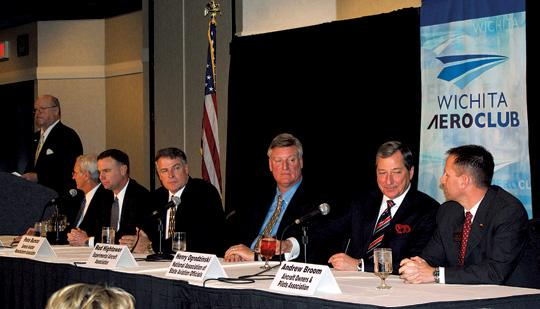 Six aviation leaders spoke at this week's Wichita Aero Club Second Annual On-Air Summit.