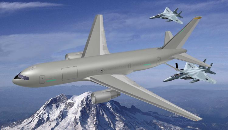 A new Boeing aerial refueling tanker would be based on the 767 commercial airliner.