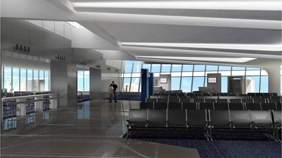 Passengers at Wichita Mid-Continent Airport could enter their planes from the new terminal via glass bridges. The Wichita Airport Authority is considering the option this week.