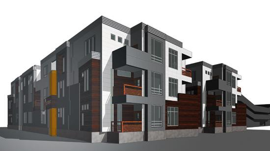 Builders Inc. is proposing 36 apartment units spread among three buildings at the southeast corner of First and Waco downtown. They're among as many as 300 new units planned or considered downtown.