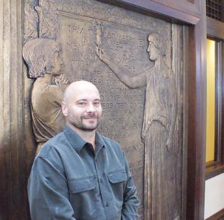 Robert -Elliot hopes a crowdfunding campaign will help him make his business, Art Effects, more competitive. Among his business's projects has been the Carnegie Library restoration for Fidelity Bank.