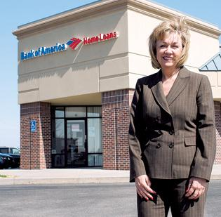 Jodie Leeser, BofA's home loan manager in Wichita, says the bank is sensing an uptick in the residential market.