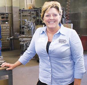 Jackie Kennedy-Riggins is working to help Ernstmann Machine find a niche in the manufacturing market.