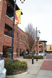 This parking structure in Old Town Square is an example of a garage with ground-level retail space.