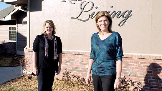 Jennifer Maul, left, and Susie Engels opened their second home-plus facility last week to provide care for up for 12 patients in a home setting. They have two other homes that provide care for eight people.