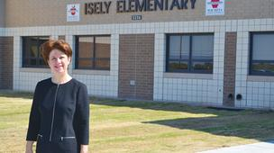 Shannon Krysl, chief human resources officer for Wichita Public Schools, says opening new buildings this year, including Isely Elementary here, required the district to hire some new personnel.