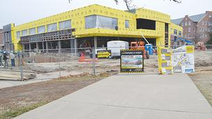 Work started in June on renovating and expanding Wichita State University's Rhatigan Student Center.