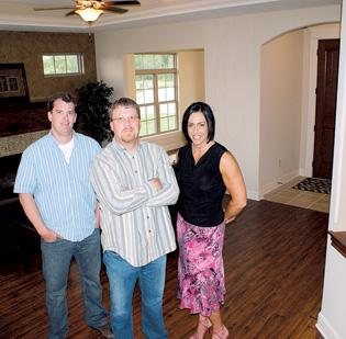 Scott Lehner, Jason Ronk and Tammi Blackburn are marketing a new patio home subdivision at Watercress.