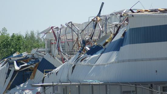 Several buildings at the Spirit AeroSystems Inc. plant in Wichita sustained damage from a tornado Saturday night.
