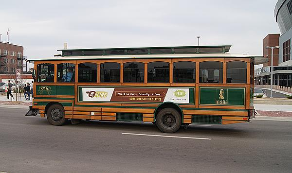 The Q-Line runs Monday through Friday evenings and on Saturdays from noon to midnight.