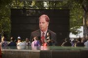 A videotaped images of Attorney Doug Jones plays prior to the concert.