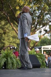 Donnie McClurkin performs at the concert.