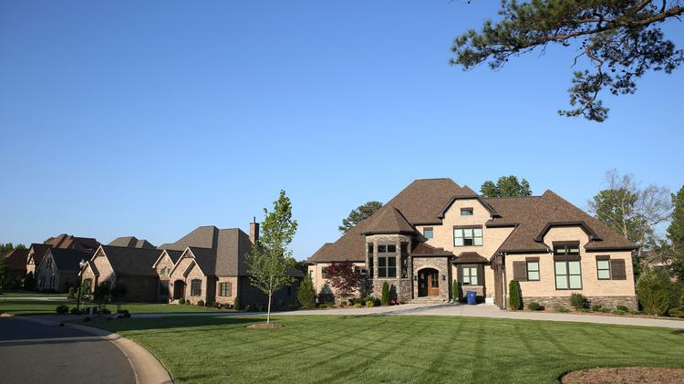 A Street Of Luxury Homes Are Seen Inside The Providence Downs South  Neighborhood In Waxhaw,