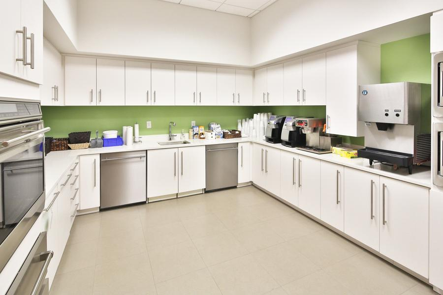 A full working kitchen on the first floor
