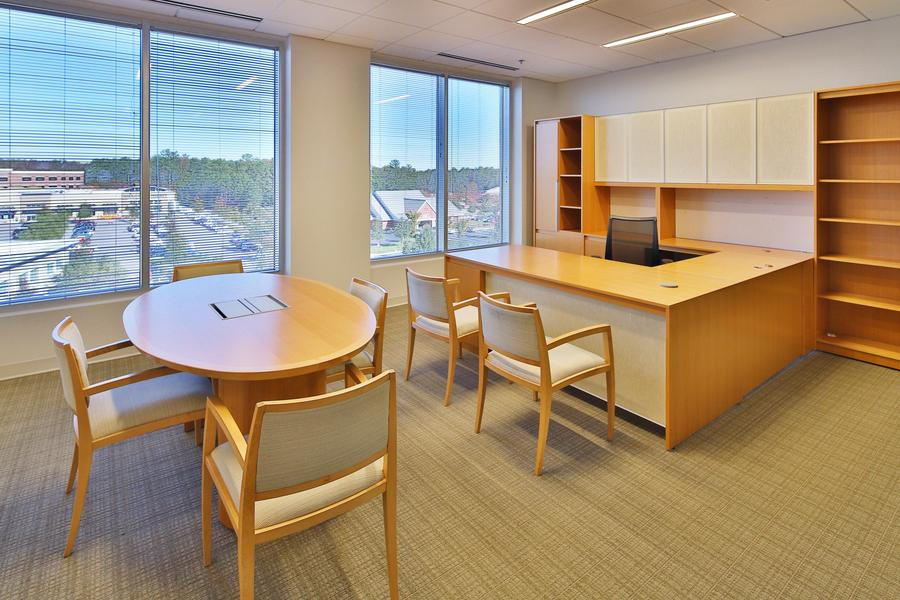 Private office with conference area