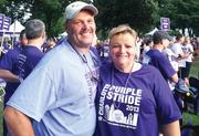 "CBJ Seen: Tim Fox, a 10-year survivor of pancreatic cancer, poses with his wife, Beth, at the Charlotte Purple Stride 5K event to benefit the Pancreatic Cancer Action Network.Want to have your photos included in CBJ Seen? Send them with captions to aangel@bizjournals.com with ""CBJ Seen"" in the subject line."