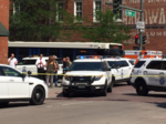 Woman shot, gunman dead in office building at 15th and Wynkoop in Denver