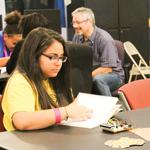 Insight teaching Guadalupe kids about electronics, engineering