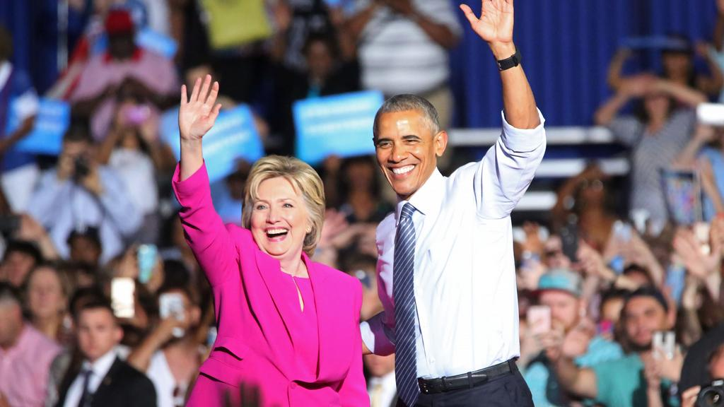 Image result for Barack Obama, campaigns with Hillary Clinton, photos