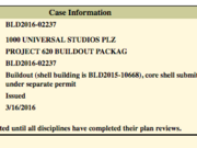 Universal Orlando filed a permit for the buildout of its new Fast & Furious ride.