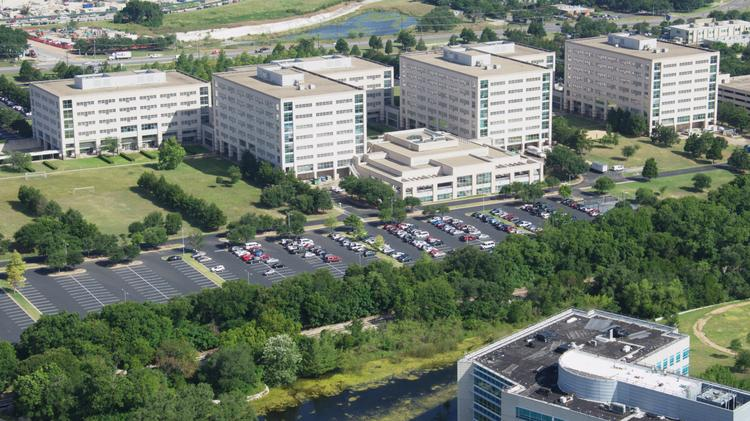An aerial view of the IBM Corp. campus in Austin. The city's technology reputation has made it the top place in the country for jobseekers in 2017, according to a new report.