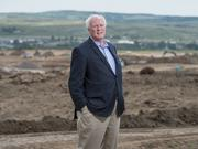 Harold Smethills, chairman of the Sterling Ranch Development Co., visits the project site. Smethills was named the DBJ's 2016 Real Estate Champion Visionary Award winner.