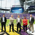 Mortenson proves itself a playmaker with U.S. Bank Stadium
