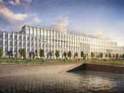 A rendering of American Water's new headquarters under development in Camden, N.J.