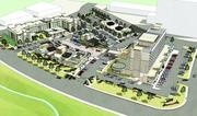 This artist's rendering shows an aerial view of CitySet, the 250,000-square-foot hotel and dining district Stantec designed that was built by Stonebridge Companies on 7.32 acres at Cherry Creek Drive South and Colorado Boulevard.