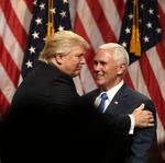Trump introduces Pence, after first talking a lot about Trump (Video)