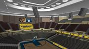 As part of a $4.9 million makeover, significant upgrades to Kansas City's Municipal Auditorium will include a new 40-foot-long LED scorer's table, two new 47-by-12-foot video boards, a new sound system and lighting system. New seating with armrests and cupholders also will be installed.