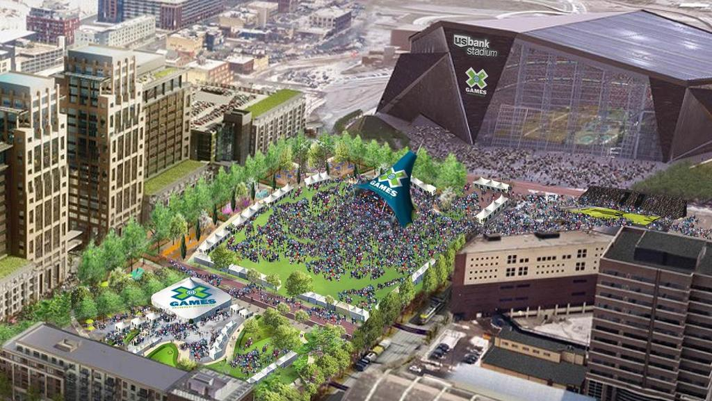 Minneapolis Will Host ESPN X Games In And At US Bank - Us bank energy park st paul maps
