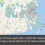 The towns and cities with the fastest-growing school districts in Massachusetts