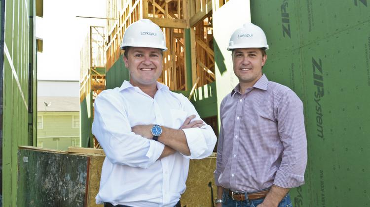 Carl Anderson (L-R) and Christopher Anderson are co-founders and managing partners of Larkspur Development, which has a number of projects underway throughout the city's hottest neighborhoods.