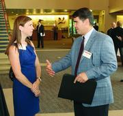 Alyssa Kunselman of Duane Morris Government Strategies and Jerry DeRosa of SE Technologies LLC.