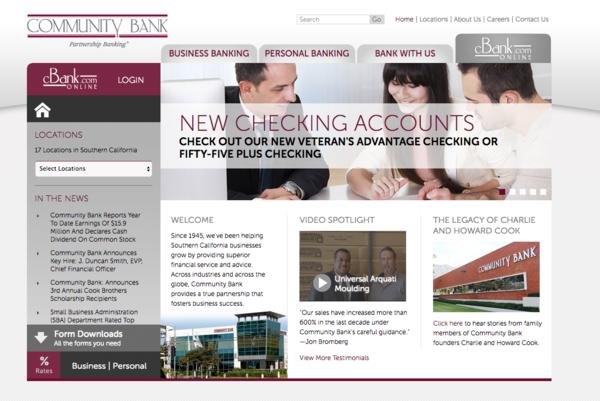 Topform Design Bank.Community Bank Names New Cfo L A Biz