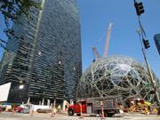 Amazon's downtown Seattle corporate headquarters