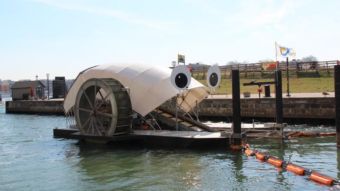 Mr. Trash Wheel goes to Port Covington